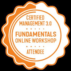 Management 3.0 fundamentals online workshop certificate